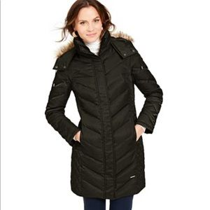 KENNETH COLE | Faux Fur Trim Down Hooded Puffer